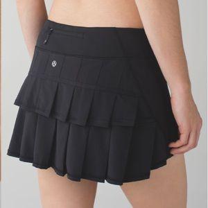 NWOT Lululemon Run: Pace Setter Skirt Black